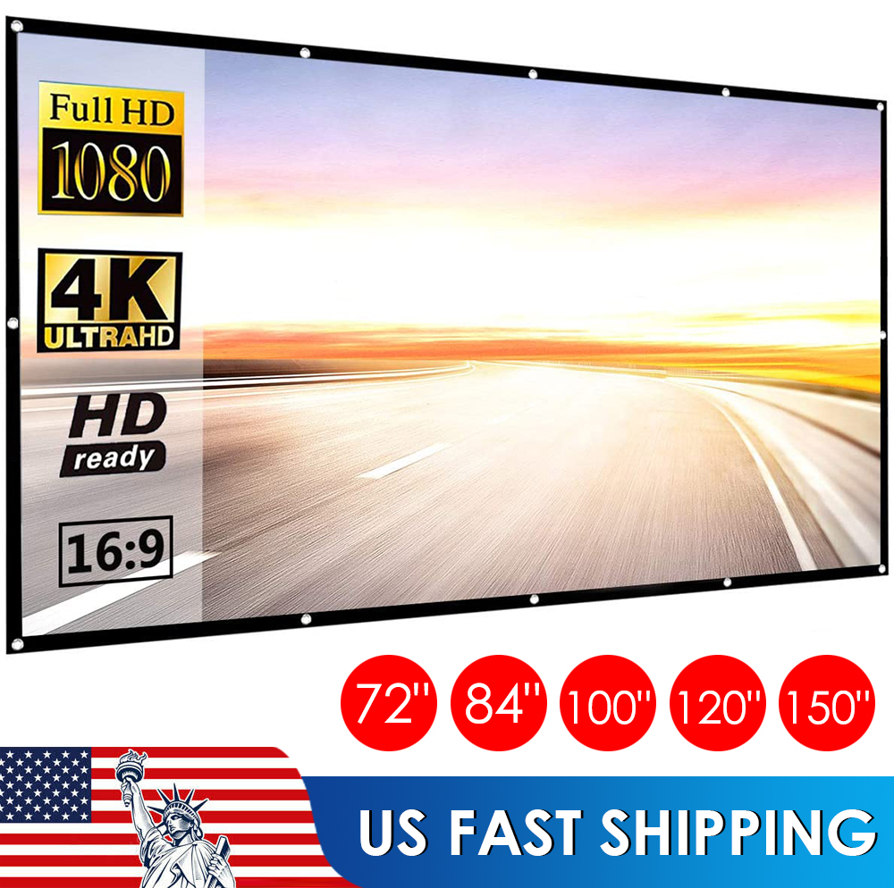 """120"""" - 150"""" Inch Projection Projector Screen Fabric 16:9 Por"""